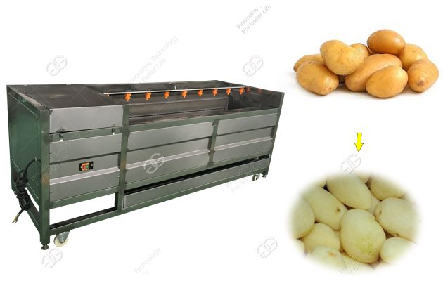 Automatic Potato Washing And Peeling Machine For Sale