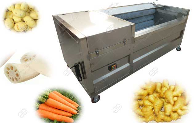 Vegetable Washing And Peeling Machine For Carrot