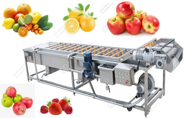 Automatic Citrus Apple Pear Washing Machine