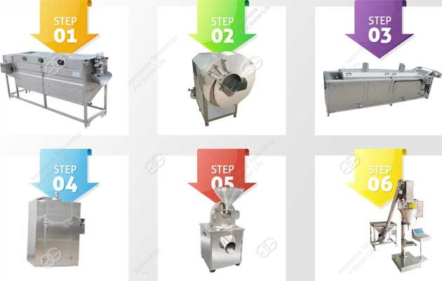 Industrial Ginger Powder Production Line Ginger Processing Machine