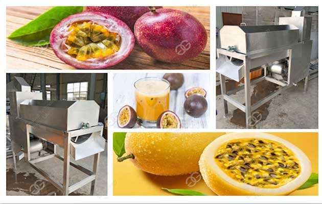 passion fruit juice machine in factory
