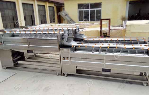 commercial ginger washing and peeling machine
