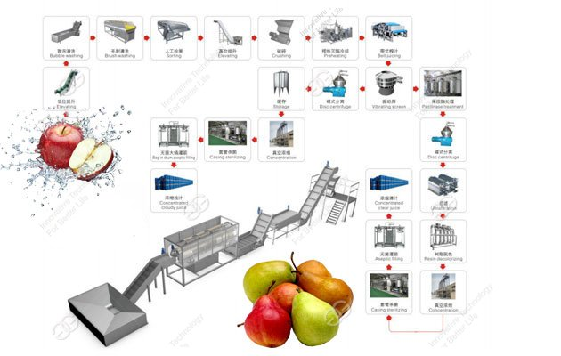 apple and pear juice production line
