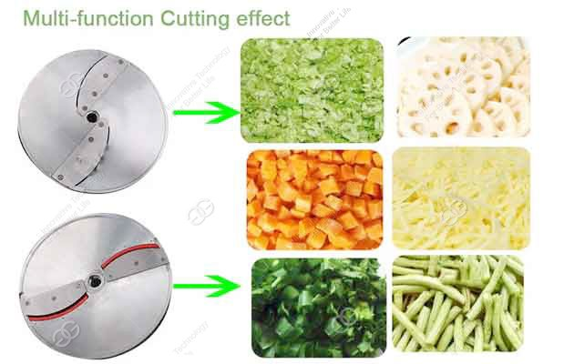 vegetable cutting machine with double frequency