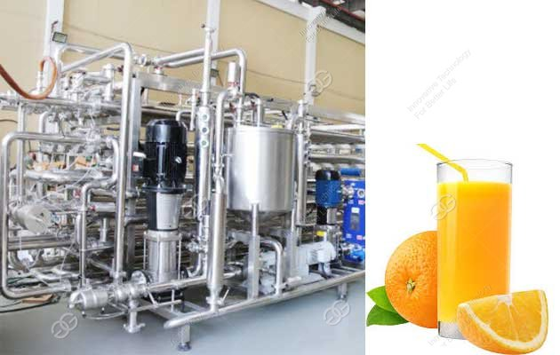 Orange Juice Pasteurization Process