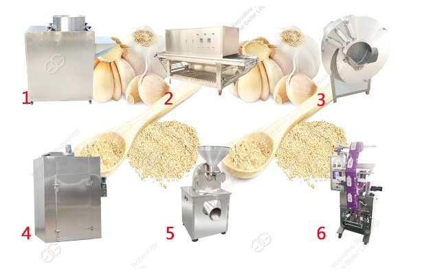 garlic powder process machine