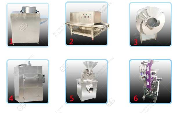 garlic powder processing machinery