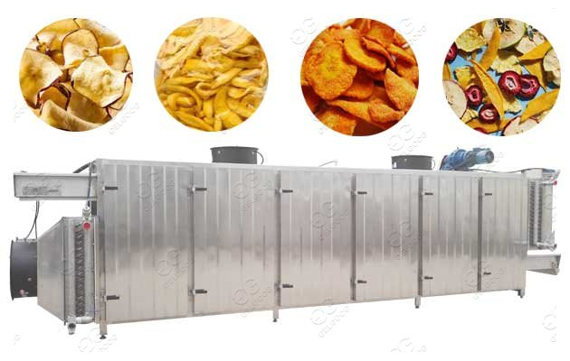 Tunnel Type Fruit Drying Machine Multifunction Use