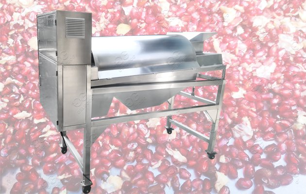 How does a pomegranate Deseeder work